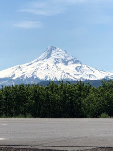 Gorgeous view of Mt. Hood on a clear day.