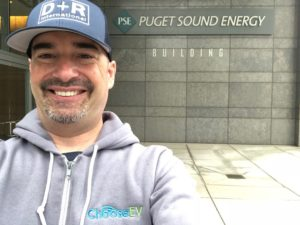 John, happy to visit Puget Sound Energy on the last day of the road trip.