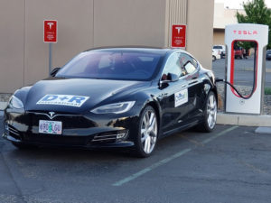 Another Tesla Supercharger, this one near Tri-Cities, Wash.