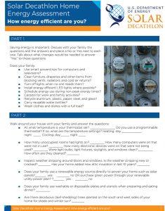Solar Decathlon Home Energy Assessment